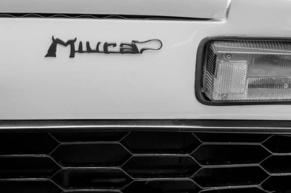 Photograph - 1968 Lamborghini Miura P400 Taillight Emblem by Jill Reger