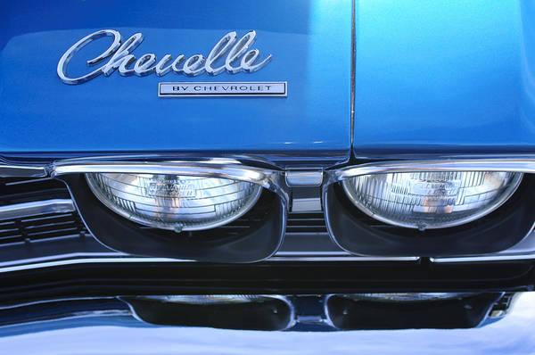 Photograph - 1969 Chevrolet Chevelle Emblem by Jill Reger
