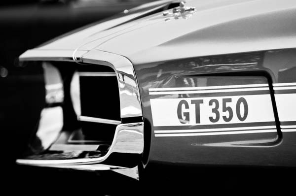 Photograph - 1969 Ford Mustang Shelby Gt350 Grille Emblem by Jill Reger