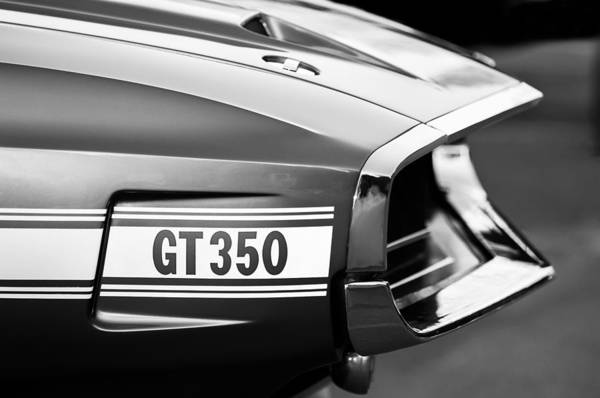 Photograph - 1969 Ford Shelby Gt 350 Convertible Emblem by Jill Reger