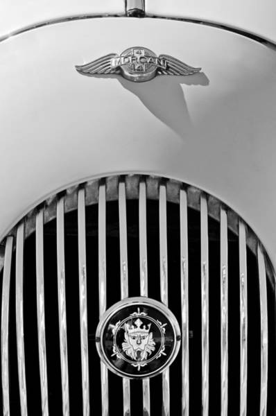 Photograph - 1969 Morgan Roadster Grille Emblems by Jill Reger