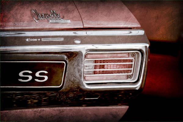 Chevy Chevelle Wall Art - Photograph - 1970 Chevrolet Chevelle Ss Convertible Emblem by Jill Reger
