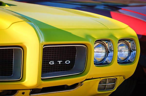 Photograph - 1970 Pontiac Gto Grille Emblem by Jill Reger