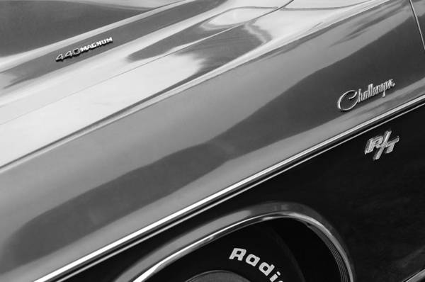Challenger Photograph - 1970 Dodge Challenger Rt Convertible Emblems by Jill Reger