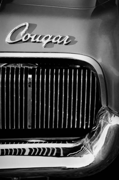 Cougar Photograph - 1970 Ford Cougar Grille Emblem by Jill Reger