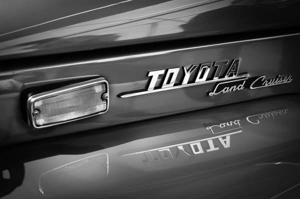 Photograph - 1970 Toyota Land Cruiser Fj40 Hardtop Emblem by Jill Reger