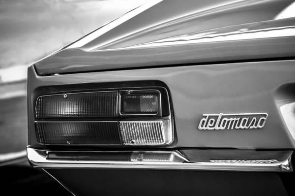 1972 Photograph - 1971 De Tomaso Pantera Taillight Emblem -1159c by Jill Reger