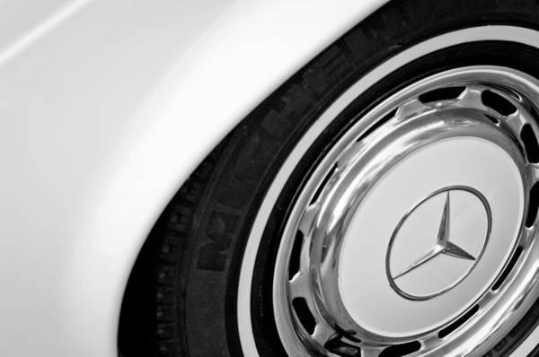 Wall Art - Photograph - 1971 Mercedes-benz Wheel Emblem by Jill Reger