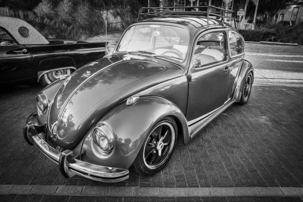Photograph - 1971 Volkswagen Beetle Painted Bw  by Rich Franco