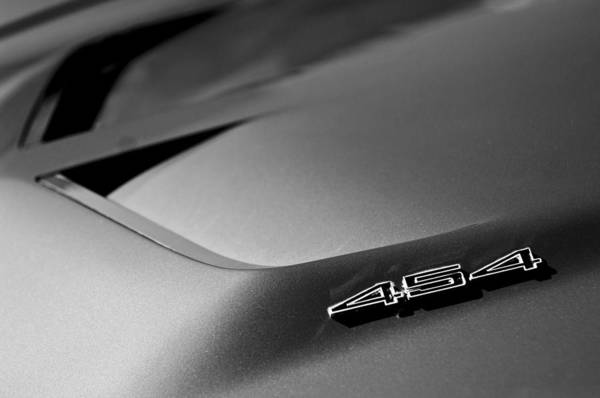 Car Part Photograph - 1972 Chevrolet Corvette Stingray Emblem by Jill Reger
