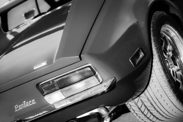 1972 Photograph - 1972 Detomaso Pantera Taillight Emblem by Jill Reger