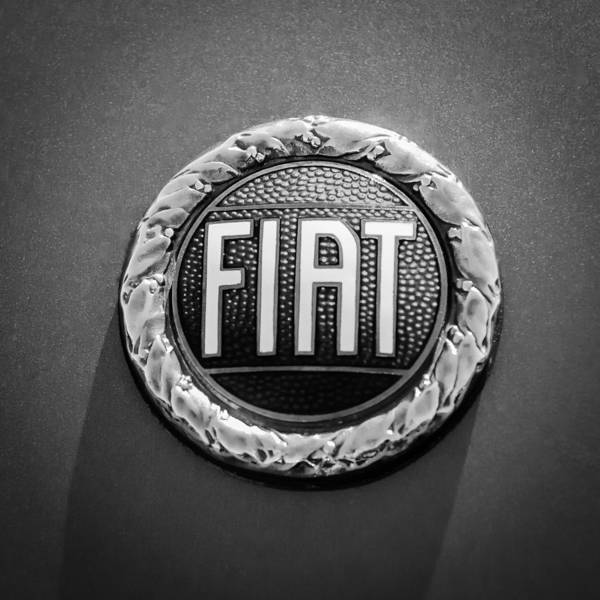 1972 Photograph - 1972 Fiat Dino Spider Emblem by Jill Reger