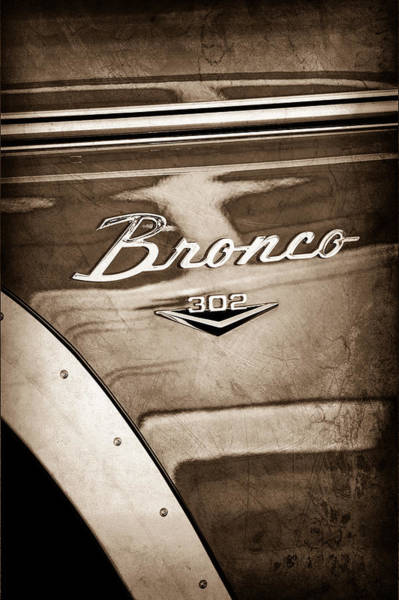 1972 Ford Bronco Emblem Art Print