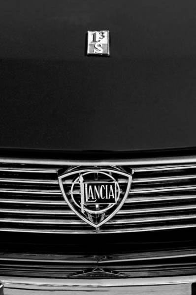 1972 Photograph - 1972 Lancia Fulvia 1.3s S2 Grille Emblem by Jill Reger