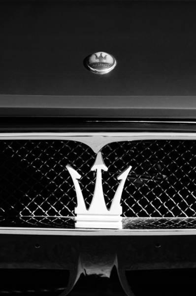 Photograph - 1972 Maserati Ghibli Grille - Hood Emblems by Jill Reger