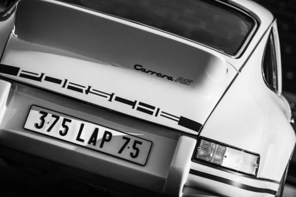 Photograph - 1973 Porsche 911 Rs Rsr Taillight Emblem by Jill Reger