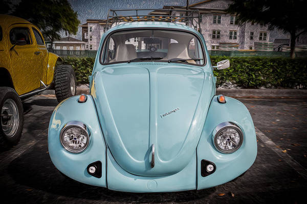 Photograph - 1974 Volkswagen Beetle Vw Bug   by Rich Franco