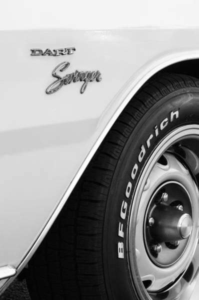 Photograph - 1975 Dodge Dart Swinger Emblem by Jill Reger