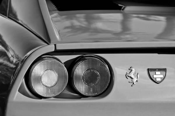 1976 Photograph - 1976 Ferrari Taillight Emblem by Jill Reger