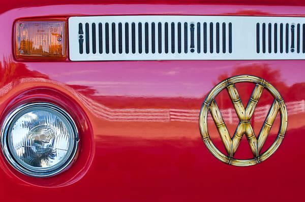 Photograph - 1978 Volkswagen Vw Transporter Bus Grille Emblem by Jill Reger