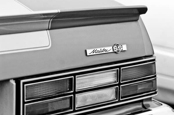 Malibu Photograph - 1980 Chevrolet Malibu Ss Taillight Emblem by Jill Reger