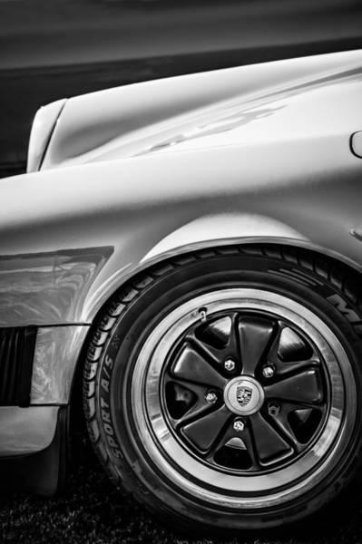 Photograph - 1984 Porsche 911 Carrera Wheel Emblem -2270bw by Jill Reger