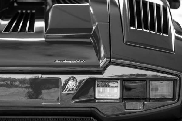 Photograph - 1990 Lamborghini Countach Taillight Emblem by Jill Reger