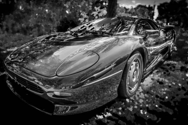 Photograph - 1993 Jaguar Xj 220 Super Car Bw by Rich Franco