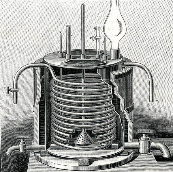 1889 Photograph - 19th Century Nitroglycerine Machine by Collection Abecasis/science Photo Library
