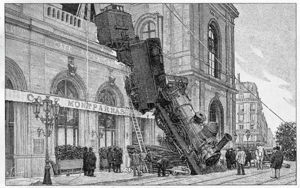 19th Century Railway Accident Art Print by Cci Archives