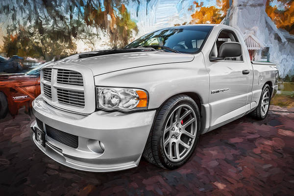 Street Racer Photograph - 2004 Dodge Ram Srt 10 Viper Truck Painted by Rich Franco