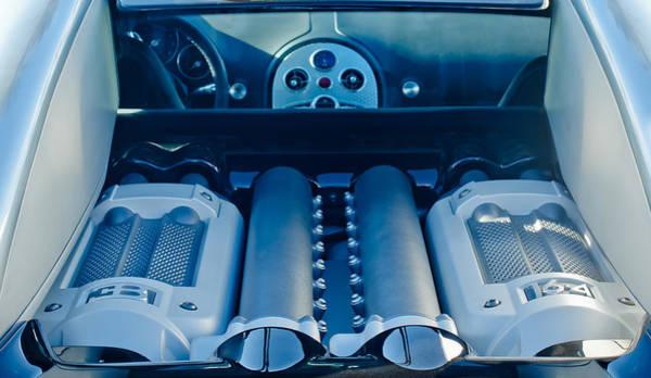 Photograph - 2008 Bugatti Veyron Engine by Jill Reger