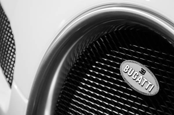 Photograph - 2010 Bugatti Veyron Grand Sport Grille Emblem by Jill Reger
