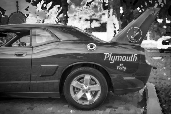 Plymouth Superbird Photograph - 2010 Plymouth Superbird Bw  by Rich Franco