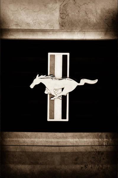Ford Mustang Photograph - 2012 Ford Mustang Boss 302 Emblem by Jill Reger