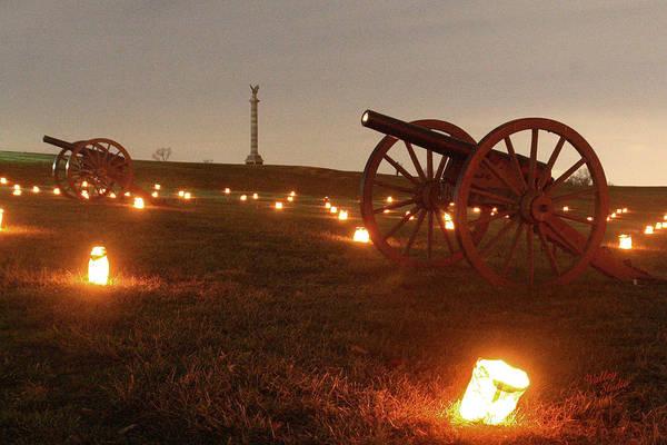 Luminaries Photograph - 2013 Antietam - Cannon by Judi Quelland