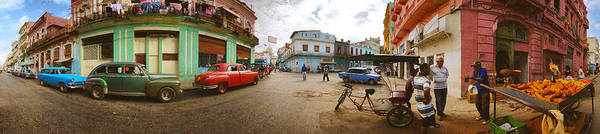 Wall Art - Photograph - 360 Degree View Of Street Scene by Panoramic Images