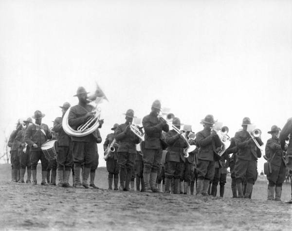 National Guard Photograph - 369th Infantry Regiment Band by Underwood Archives