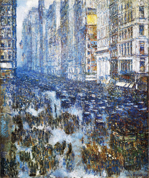 Photograph - Fifth Avenue by Childe Hassam