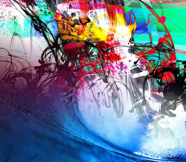 Tsunami Painting - 48x41 The Scream 2012 Blue Ocean Wave - - Signed Art Abstract Paintings Modern Www.splashyartist.com by Robert R Splashy Art Abstract Paintings