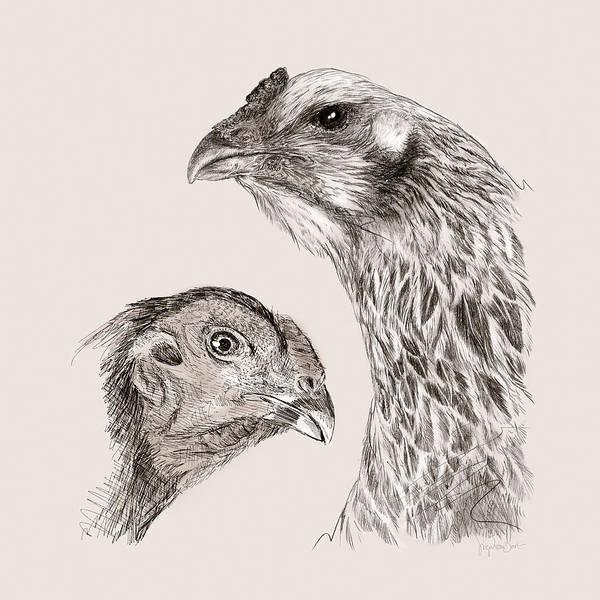Digital Art - 51. Game Hens by Sigrid Van Dort