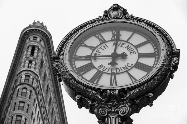Wall Art - Photograph - 5th Avenue Clock by John Farnan