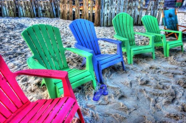 Digital Art - 6 Chairs by Michael Thomas