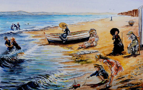 Wall Art - Painting - A Day At The Seaside by Andrew Read