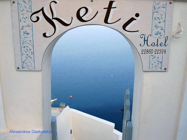 Door To Door Photograph - A Door To Aegean by Alexandros Daskalakis