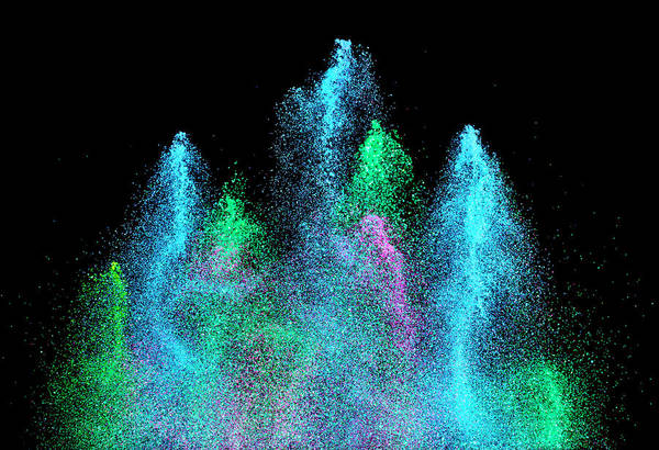Celebration Photograph - A Fountain Of Glitter, Propelled By by Don Farrall