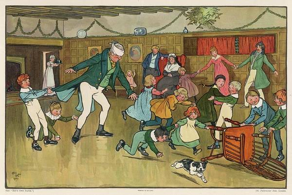 Wall Art - Drawing - A Game Of Blind Man's Buff (or Bluff) by Mary Evans Picture Library