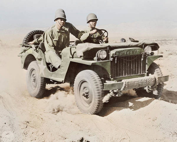 Indio Photograph - A Half-ton Jeep At The Desert Training by Stocktrek Images