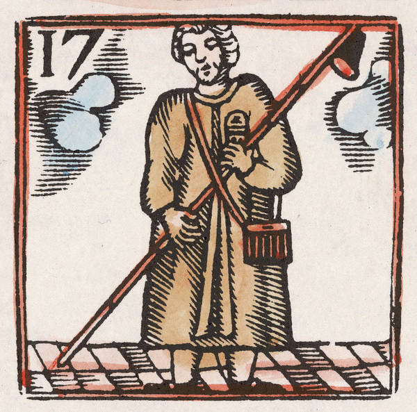 Wall Art - Drawing - A Lamplighter          Date 17th Century by Mary Evans Picture Library