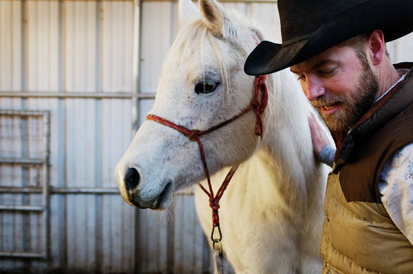 Flagstaff Photograph - A Male Ranch Hand In A Cowboy Hat by Kyle George